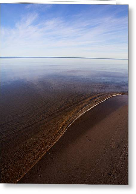 A Little Lip, Lake Superior Greeting Card