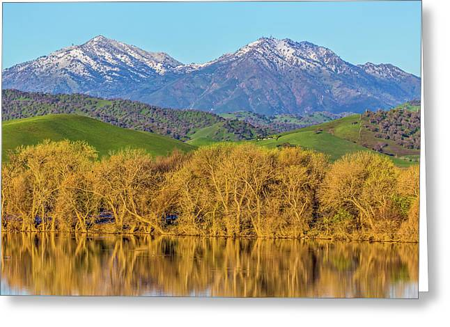 A Little Snow On Mt. Diablo Greeting Card