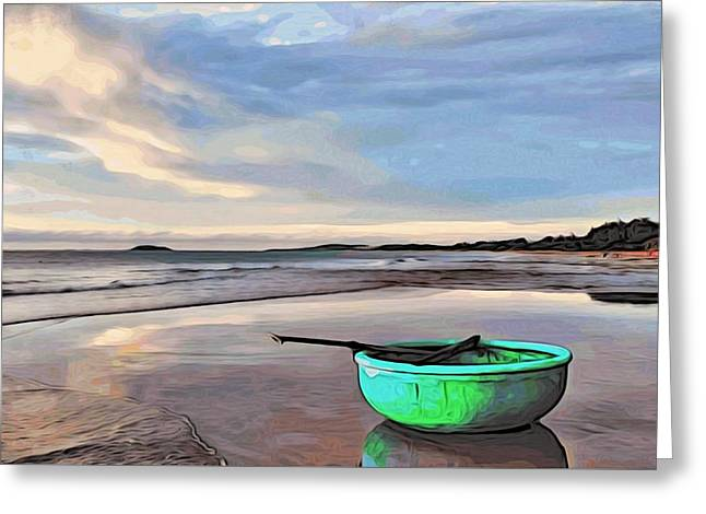 Lone Boat Greeting Card by Alexandre Ivanov
