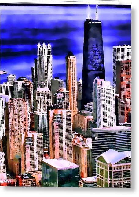 A Look At Chicago Greeting Card by Kathy Tarochione