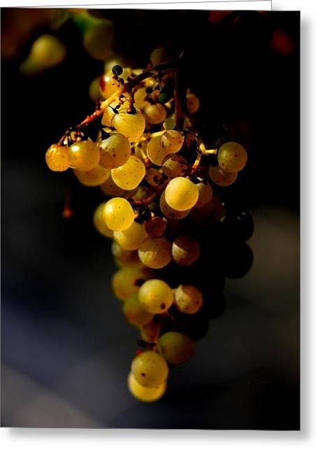 A Luscious Bunch Of Grapes Greeting Card by Ian Sanders
