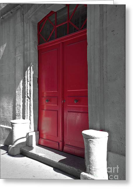 A Magic Red Door Greeting Card