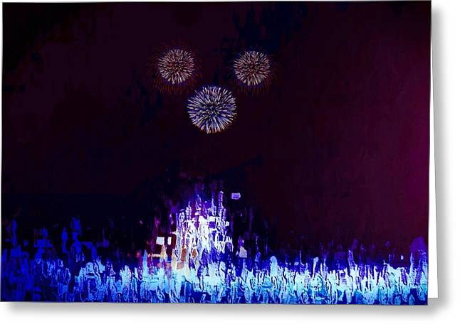 Greeting Card featuring the painting A Magical Night by Mark Taylor