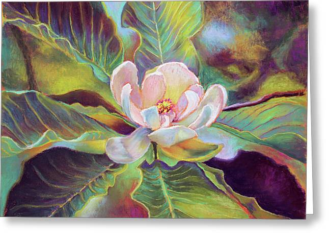 A Magnolia For Maggie Greeting Card by Susan Jenkins