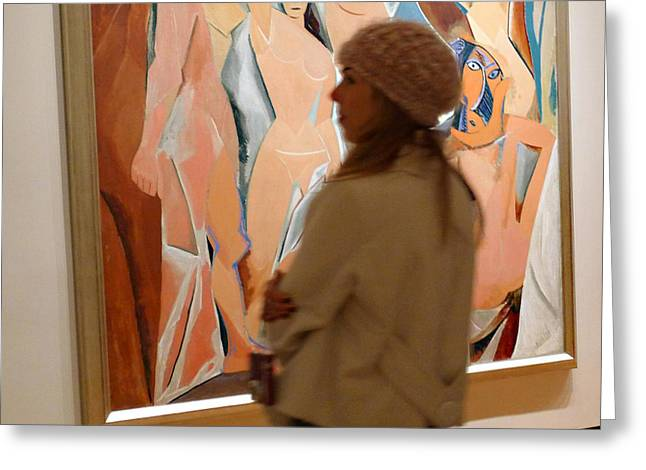 A Maid And Les Demoiselles D'avignon Greeting Card by Frank Winters