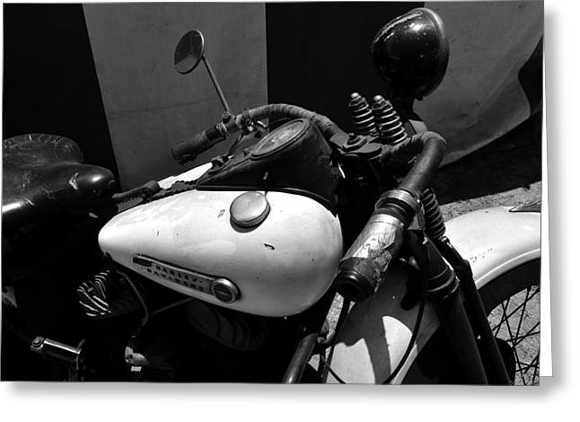 A Mans Harley Greeting Card by David Lee Thompson