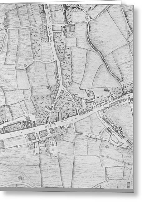 A Map Of Mile End Greeting Card