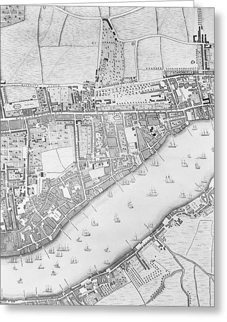 A Map Of Wapping Greeting Card by John Rocque
