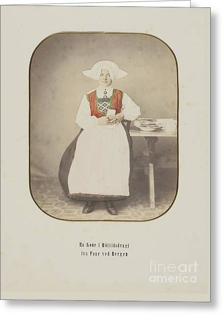 A Married Woman In A National Costume From Fane By Bergen Greeting Card by MotionAge Designs