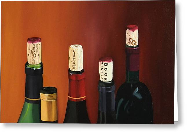 Red Wine Prints Greeting Cards - A Maryland Wine Party Greeting Card by Brien Cole