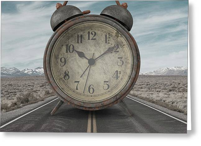 Greeting Card featuring the photograph A Matter Of Time Surreal by Edward Fielding