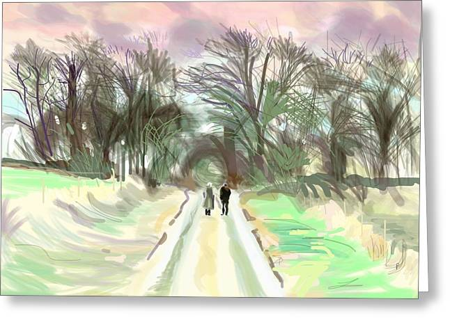 A Meeting In The Country Greeting Card by Plum Ovelgonne