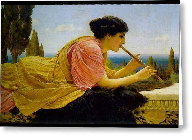 A Melody  Greeting Card by John William Godward