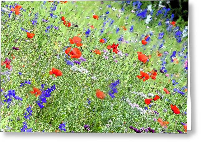A Merrie Medley In Wildflowers Greeting Card by ARTography by Pamela Smale Williams