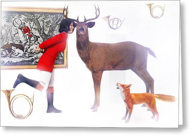 A Merry Hunting Party Greeting Card