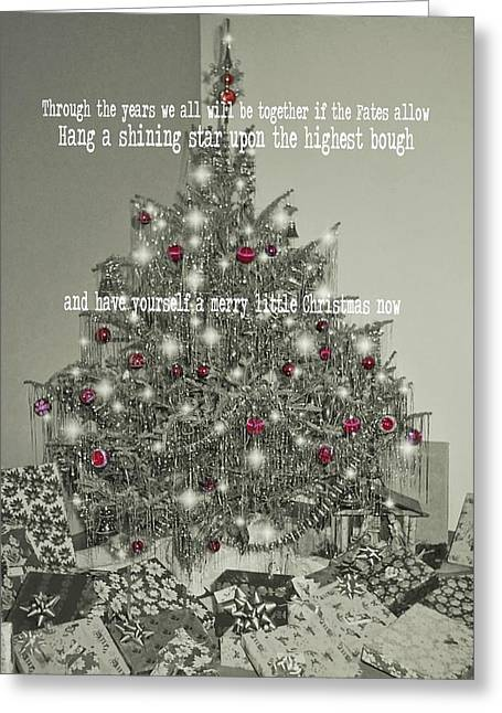 A Merry Little Christmas Quote Greeting Card by JAMART Photography