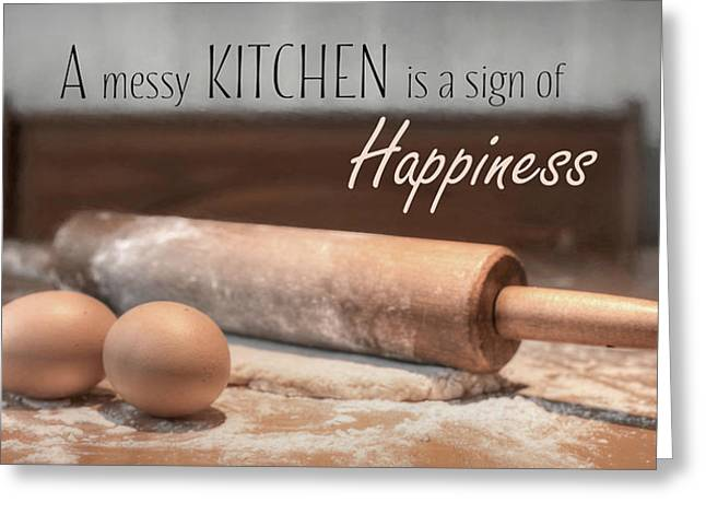 A Messy Kitchen Greeting Card