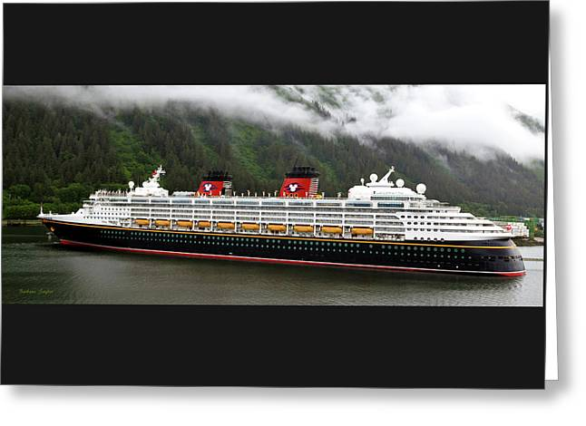 A Mickey Mouse Cruise Ship Greeting Card by Barbara Snyder