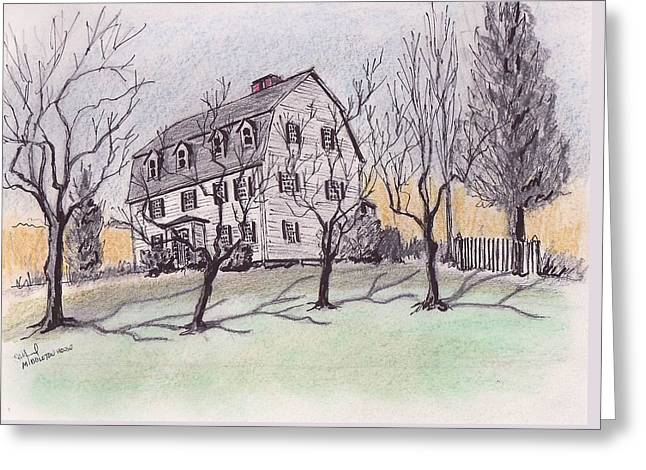 A Middleton Ma Gambrel Greeting Card by Paul Meinerth