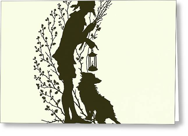 A Midsummer Night's Dream, Silhouette  Greeting Card by Paul Konewka
