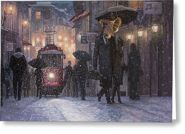 A Midwinter Night's Dream Greeting Card