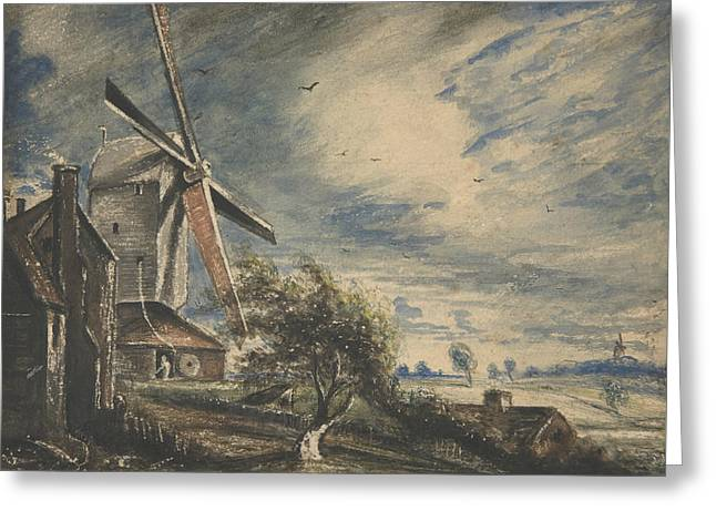 A Mill Near Colchester Greeting Card