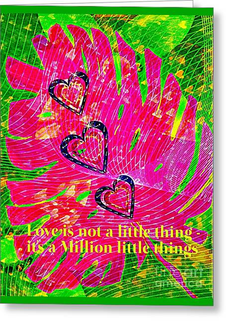 A Million Little Things  Greeting Card by ARTography by Pamela Smale Williams