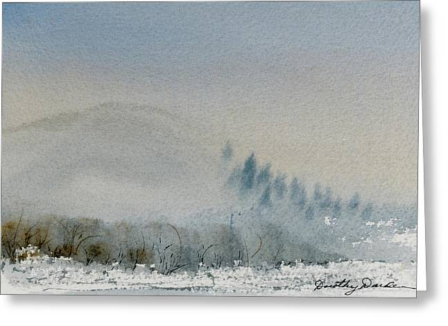A Misty Morning Greeting Card