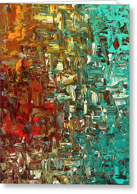A Moment In Time - Abstract Art Greeting Card