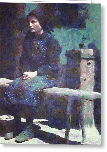 Greeting Card featuring the digital art A Moment Of Meditation by Gun Legler