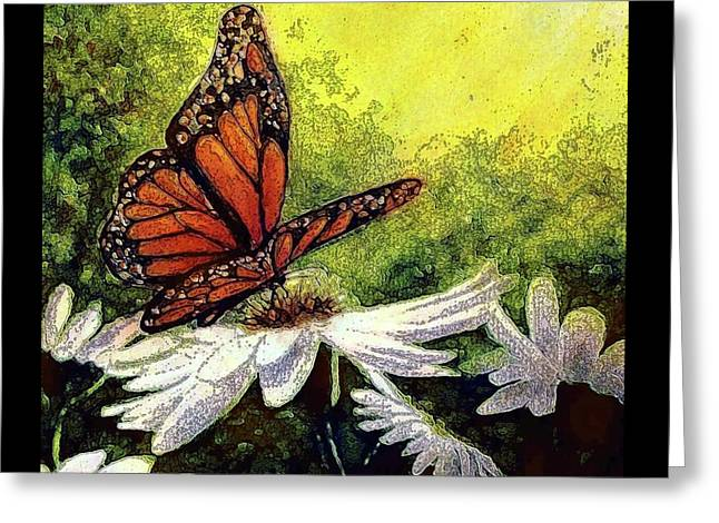A Monarch's Beauty Greeting Card by Hazel Holland
