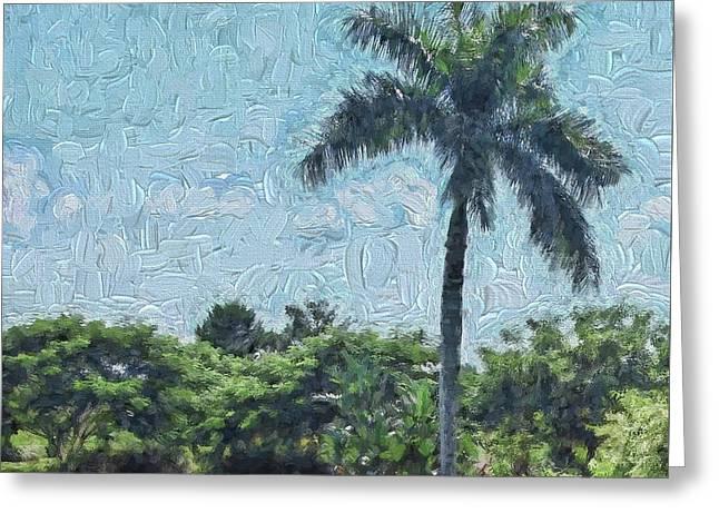 A Monet Palm Greeting Card
