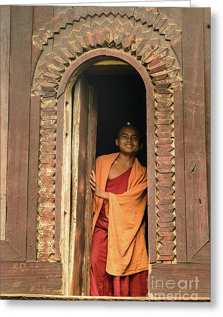 A Monk 4 Greeting Card