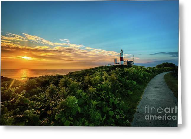 A Montauk Lighthouse Sunrise Greeting Card