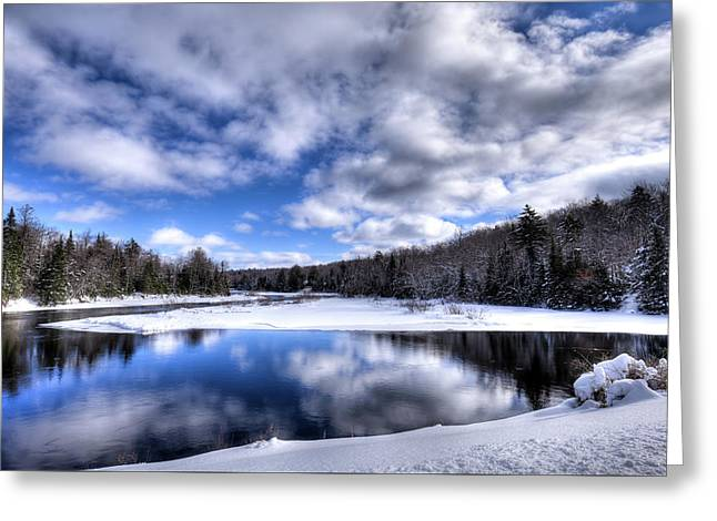 Greeting Card featuring the photograph A Moose River Snowscape by David Patterson