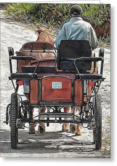 A Morning Drive Greeting Card by Dorothy Berry-Lound
