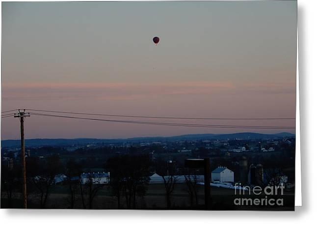 A Morning Hot Air Balloon Ride Greeting Card