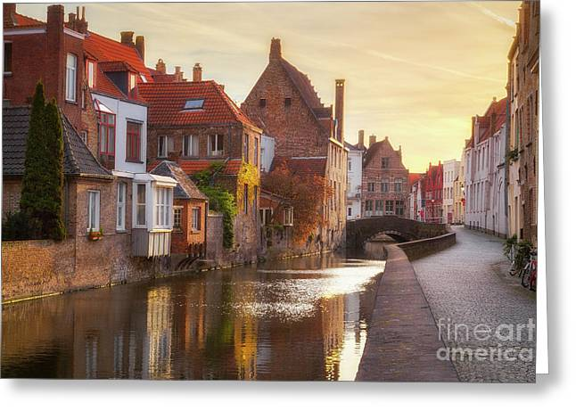 A Morning In Brugge Greeting Card by JR Photography