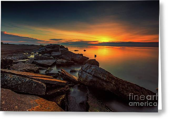 A Morning On The Rocks Greeting Card