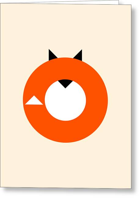 A Most Minimalist Fox Greeting Card