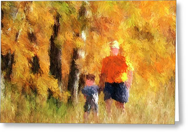 A Mother's Love - Impressionist Portait Of Mother And Son Greeting Card
