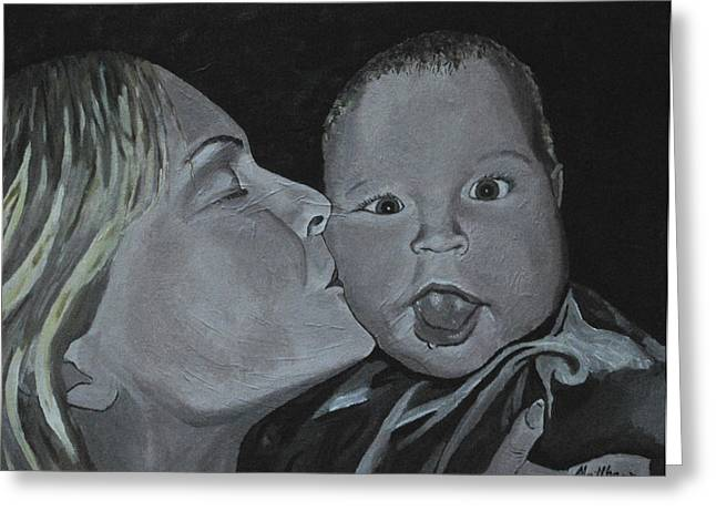 A Mothers Love Greeting Card by Matthew Fredricey