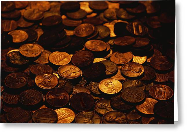 A Mound Of Pennies Greeting Card by Joel Sartore