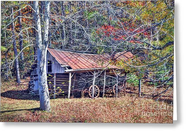 A Mountain Farm Greeting Card by Savannah Gibbs