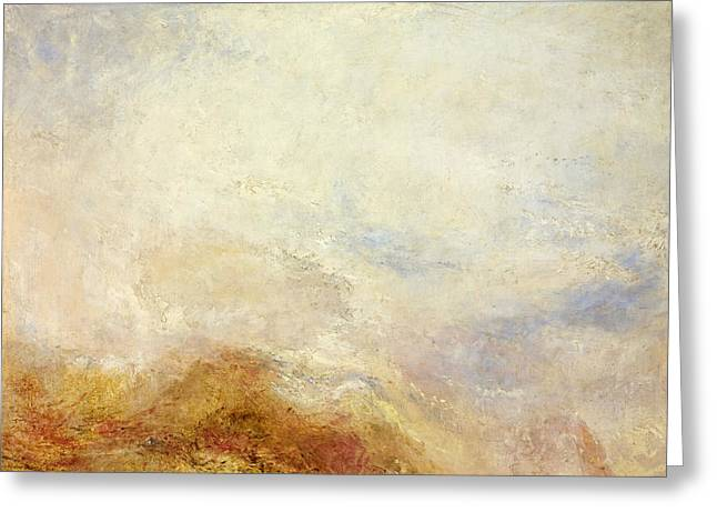A Mountain Scene Val D'aosta Greeting Card by Joseph Mallord William Turner