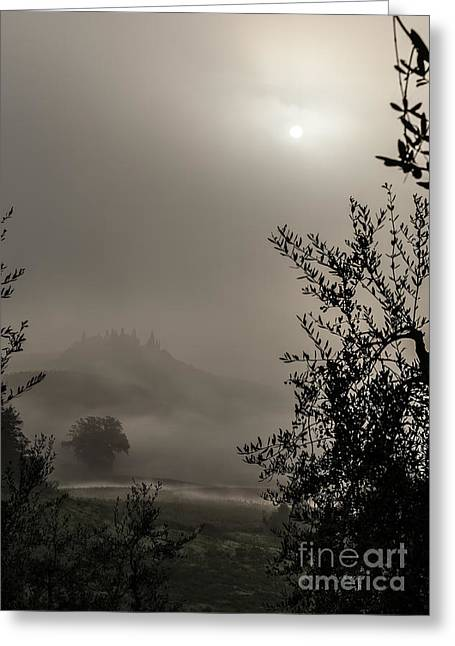 A Mysterious Foggy Morning Greeting Card