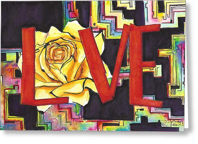A Name Means Nothing To A Rose Greeting Card by Faith Teel
