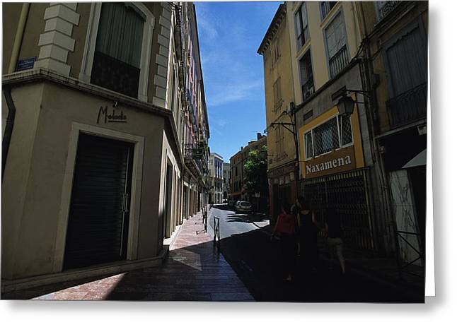 A Narrow Alley In Perpignan, France Greeting Card by Stacy Gold