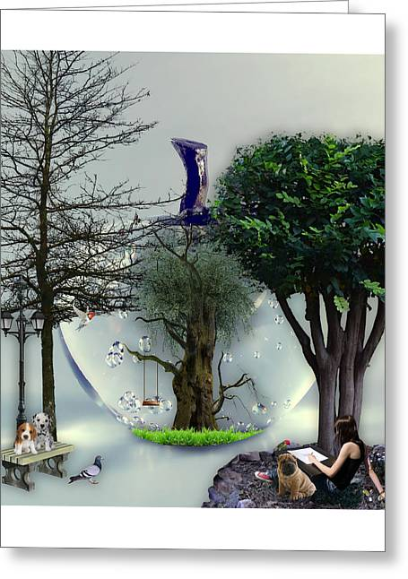 A New Day In Paradise Greeting Card by Marvin Blaine