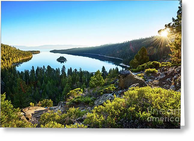 A New Day Over Emerald Bay Greeting Card